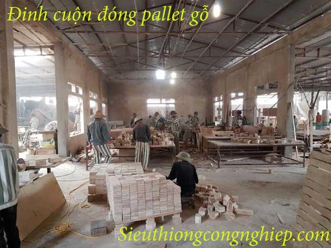 đinh cuộn đóng pallet gỗ