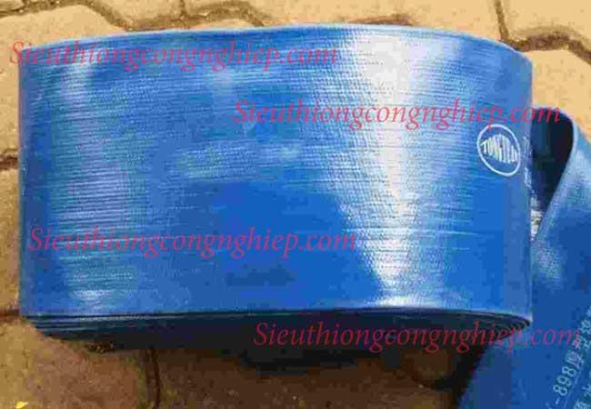 Ống bạt phủ nhựa mềm màu xanh