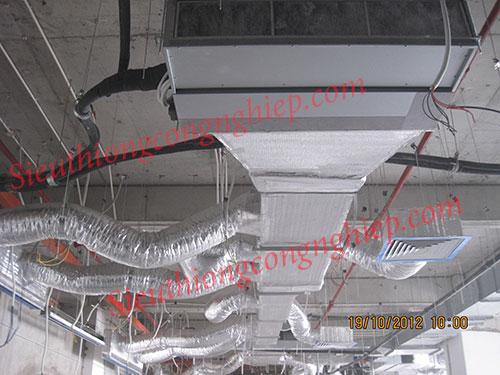 Lắp đặt ống gió mềm nhôm thông gió