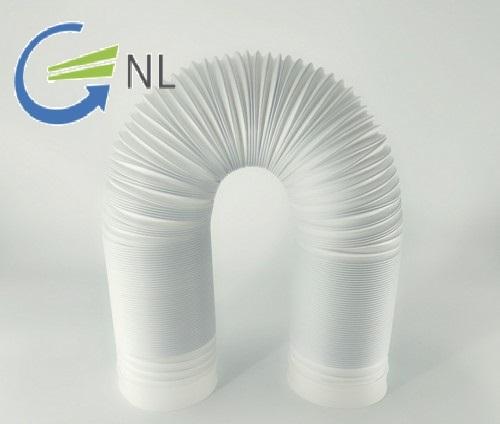 Ống nhựa xếp điều hòa bằng nhựa dạng ruột gà có lõi thép bọc nhựa