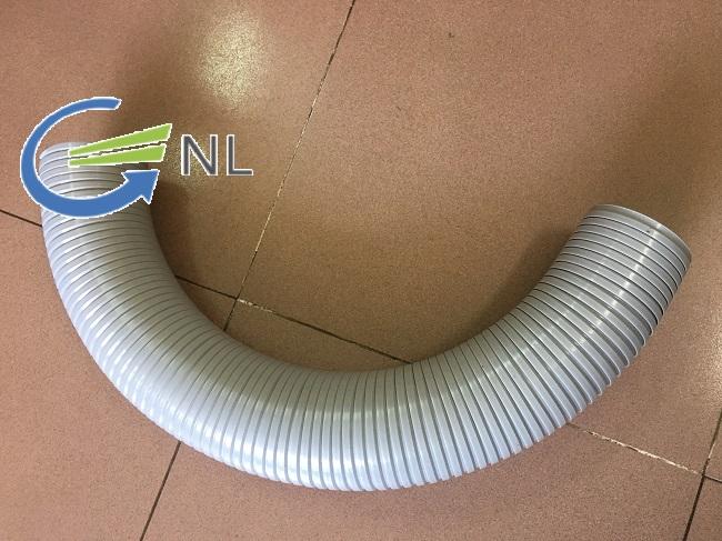 Ống gió xoắn định hình đường kính 75mm với bán kính uốn 191mm