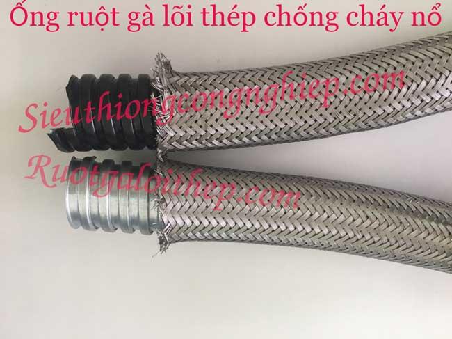 Ống ruột gà bọc nhựa bọc lưới inox 304