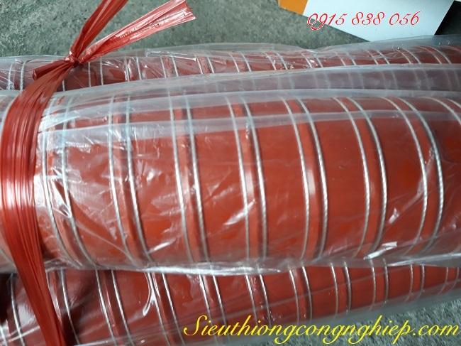 Ống silicone chịu nhiệt độ cao, co giãn đần hồi màu đỏ
